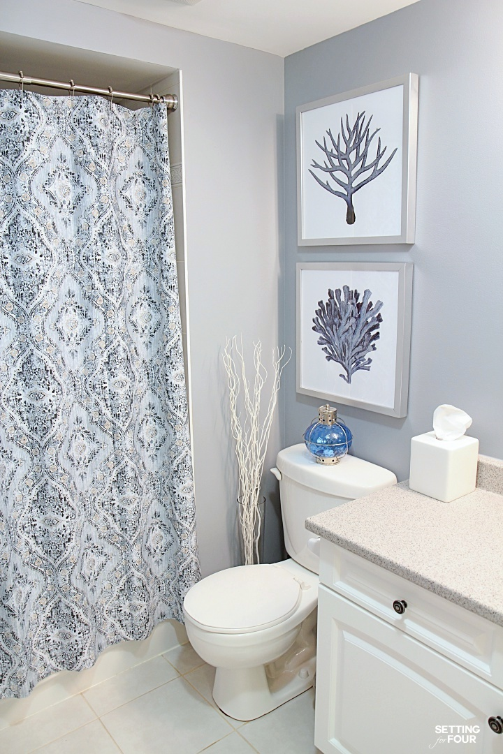 DIY Hang Pictures At The Right Height Above A Toilet
