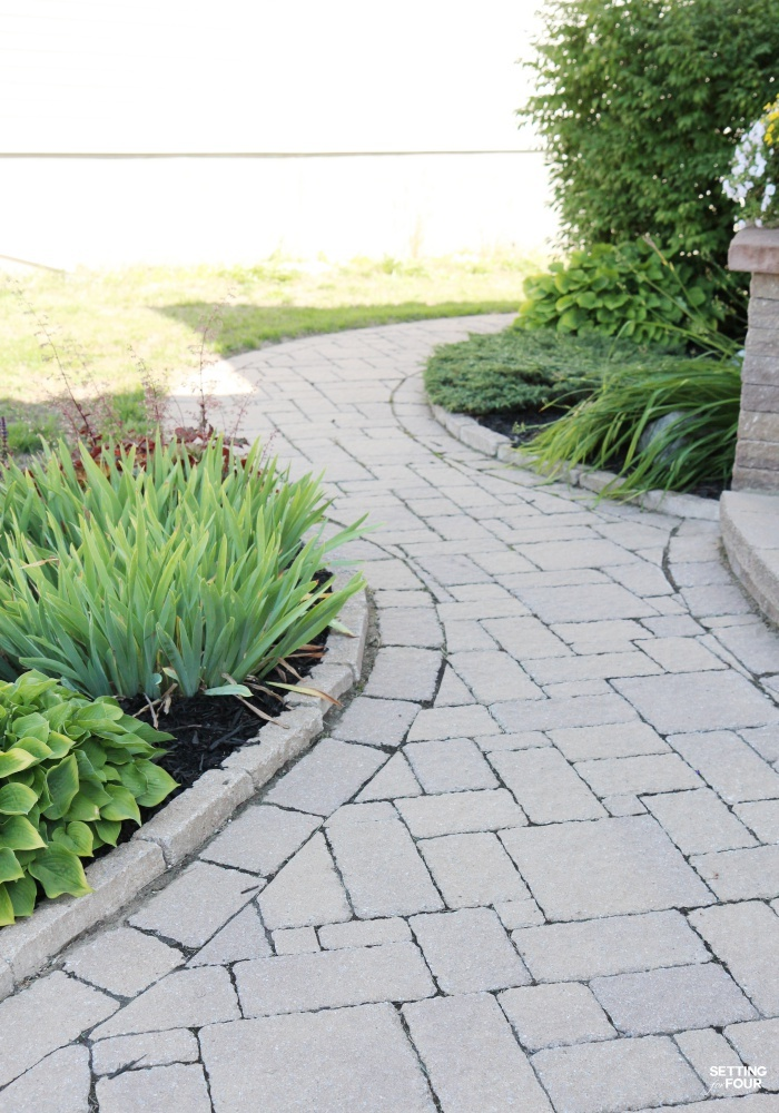 See our inlaid stone pathway - I love the design - it has a very organic, winding shape.