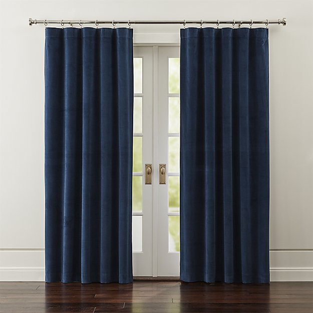 Indigo Blue Curtains - these will look fabulous in a den, living room, home office and bedroom.