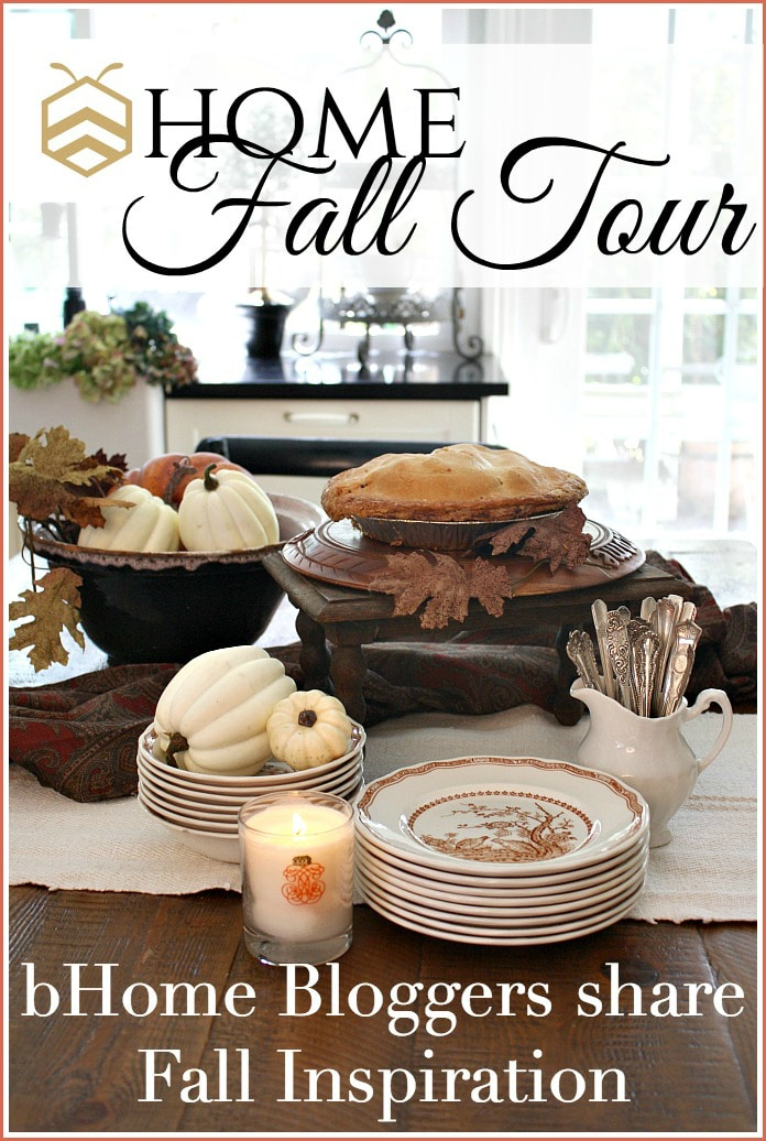 See the bHome Fall Home Tour! 30 creative and talented bHome bloggers that are sharing their best Fall decorating ideas and Fall Homes!
