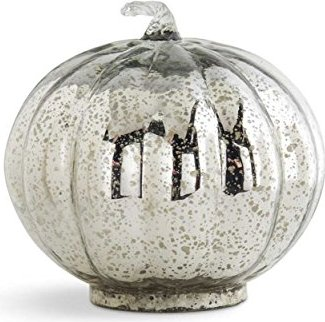 Decorate for Fall with neutral polished elegance: mercury glass pumpkins!