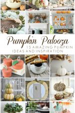 Fill your home with the sights and scents of Fall with these 15 beautiful pumpkin decor ideas and easy pumpkin recipes! It's a Pumpkin Palooza celebration including gorgeous pumpkin home decor, fun crafts & DIY projects and yummy pumpkin recipes for Fall and Thanksgiving! #fall #autumn #thanksgiving #pumpkin
