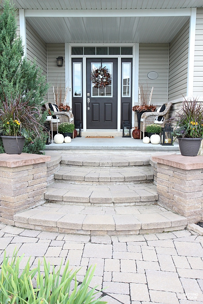Fall front porch ideas why i love to bhome fall tour - Fall front porch ideas ...