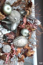 Welcome to my Fall Home Tour Part 2 - my Fall Front Porch! See my metallic glam fall wreath and porch decorating ideas!