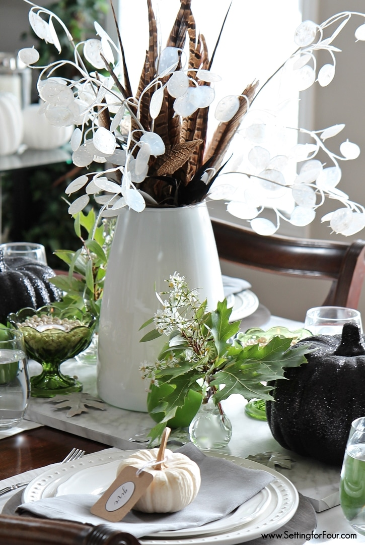 Fall centerpiece and tablescape ideas for your home.