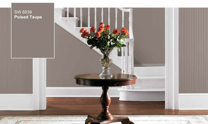 Sherwin williams poised taupe color of the year 2017 - Best foyer colors 2018 ...