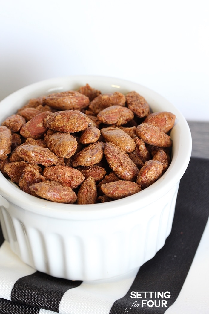 Pumpkin Pie Spiced Nuts with a hint of Brown Sugar