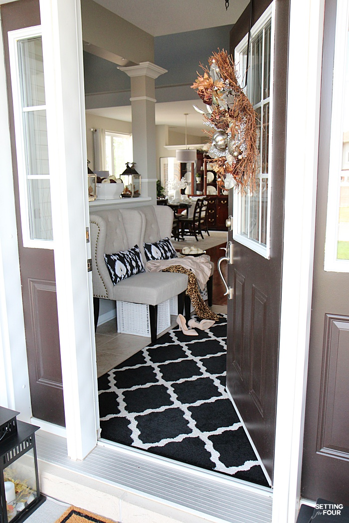 Welcome to my Fall Home Tour Part 2 - my Fall Front Porch! See my Fall porch and foyer!