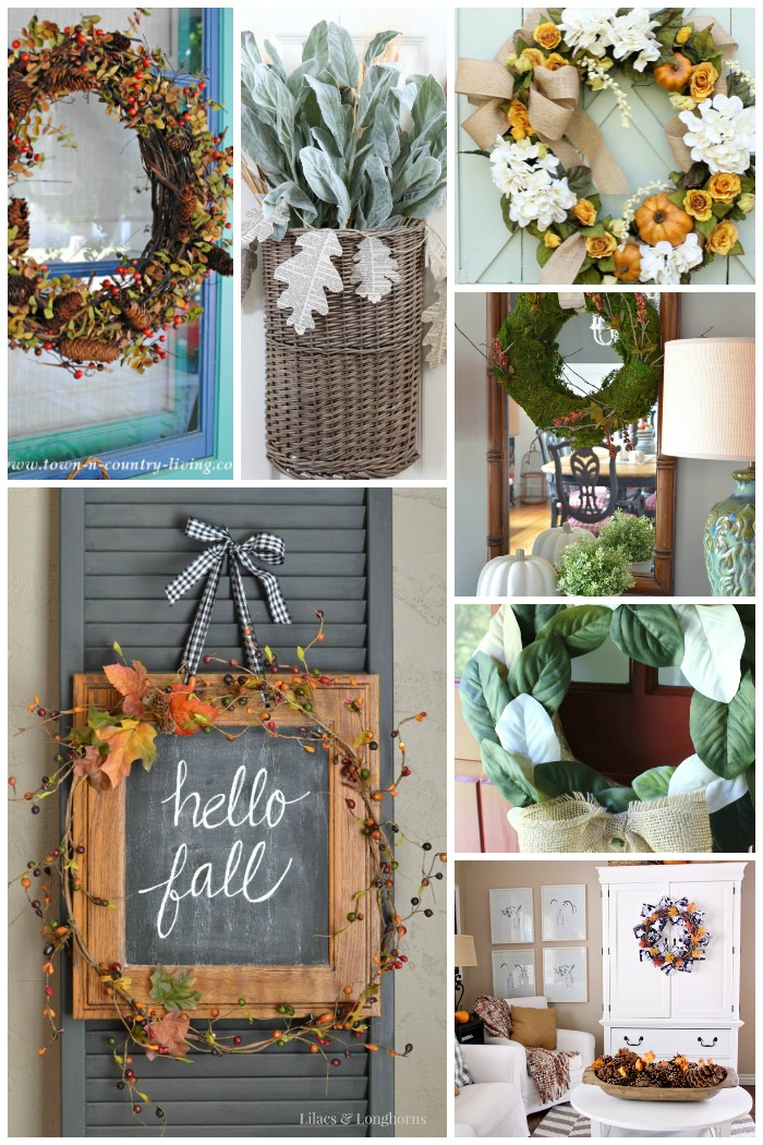 7 Fabulous DIY Fall Wreaths for your front door! Love these!