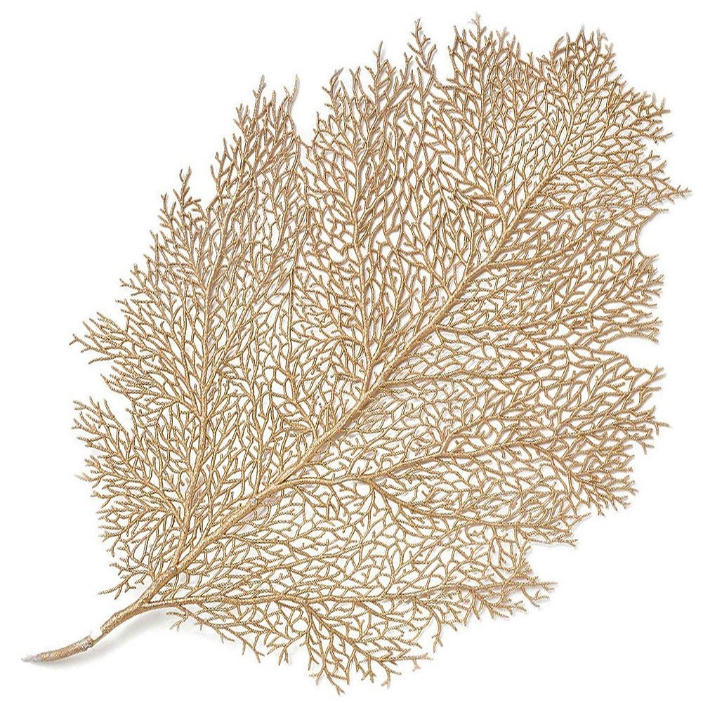 Gold branch placemat