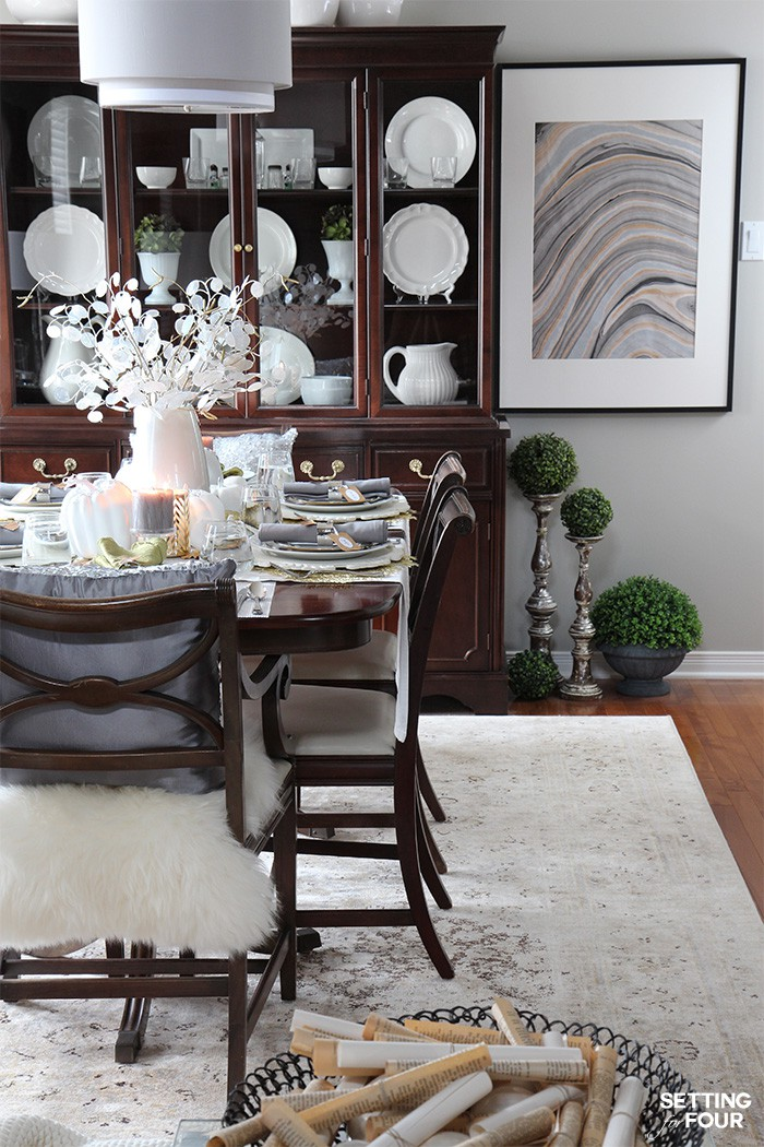 See how to set an elegant Thanksgiving table for the holidays - for less!