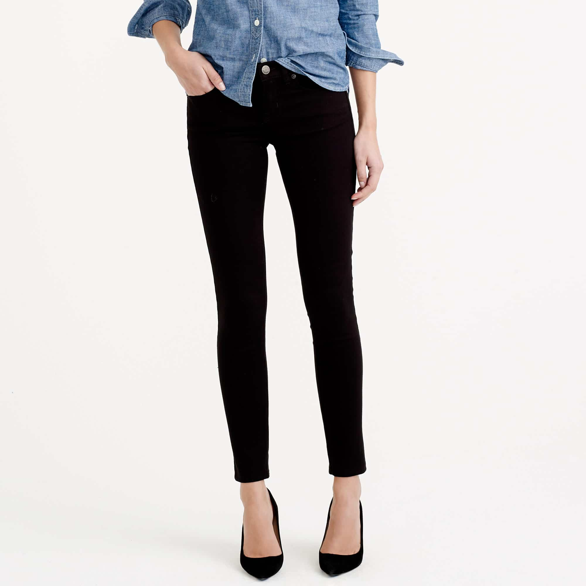 In my closet: BLACK TOOTHPICK JEANS! These are gorgeous, slimming and so comfy - they have stretch in them! They are my go-to jeans.