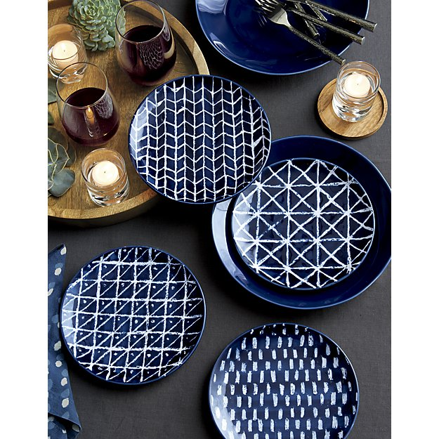 Indigo Blue Batik Plates - so pretty!