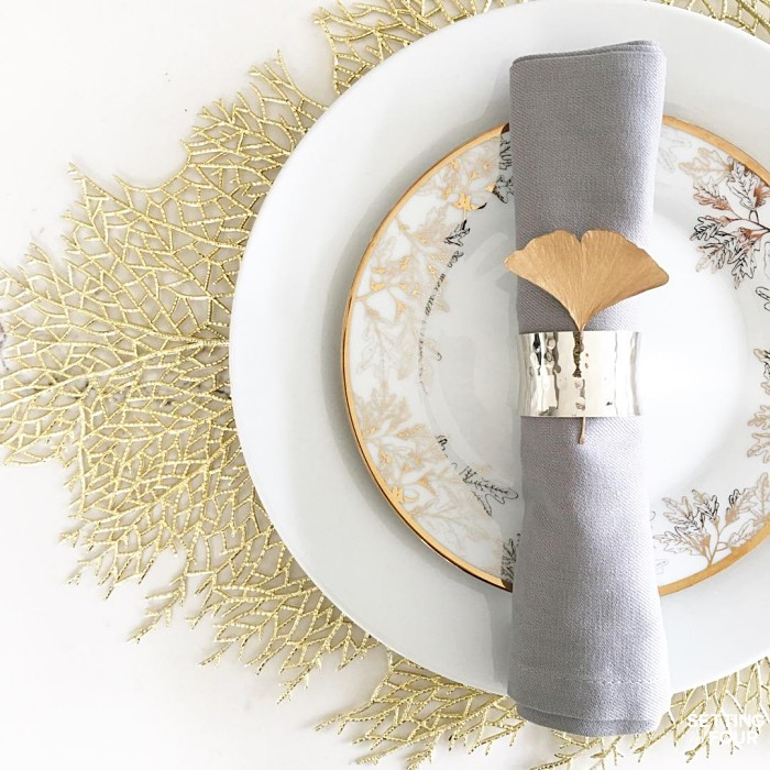 Metallic Gold Branch Placemats - gorgeous!