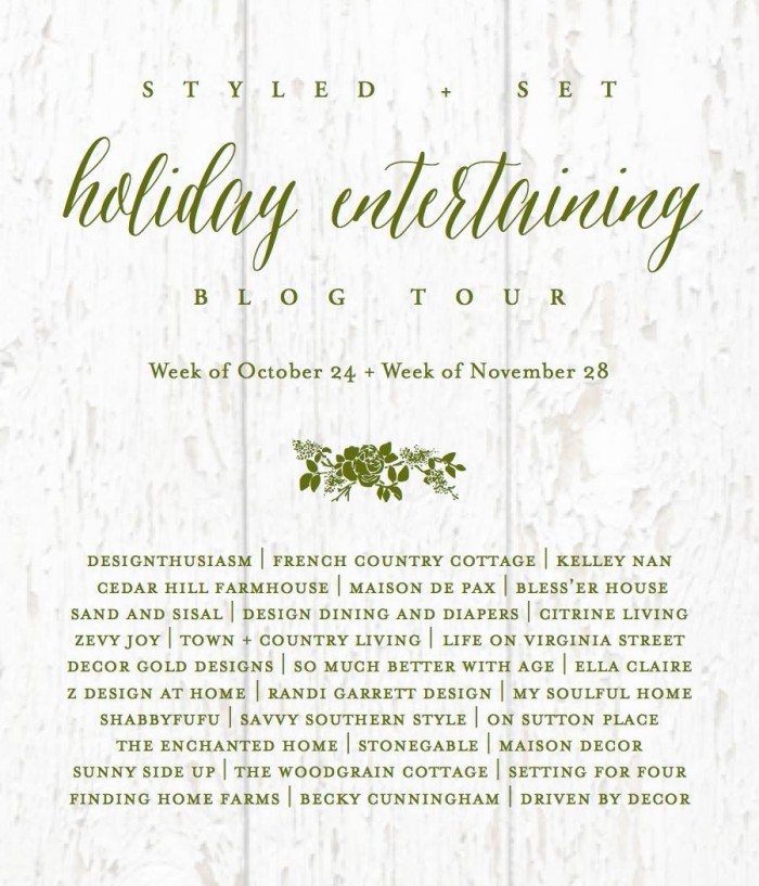 See how 30 creative home decor bloggers entertain for the holidays! Learn how to make beautiful Thanksgiving holiday entertaining and table setting ideas for family get togethers and holiday parties.