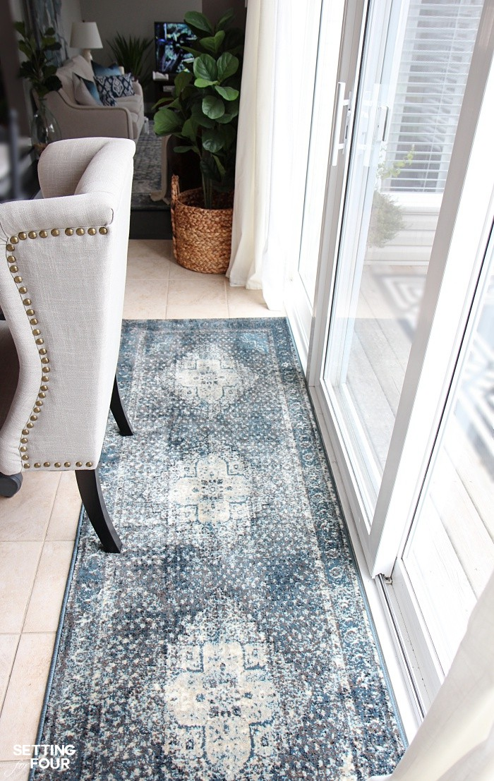 Add a rug to your kitchen sliding glass patio doors!