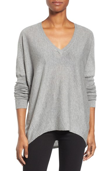 Heather Gray slouchy sweater - this looks so comfy!