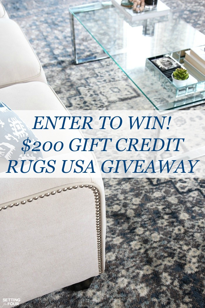 Rugs USA giveaway - enter to win $200 gift credit to Rugs USA for a new rug!