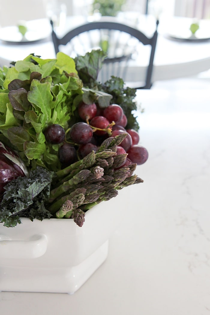 Easy Centerpiece Using Vegetables Fruit Amp Herbs Setting
