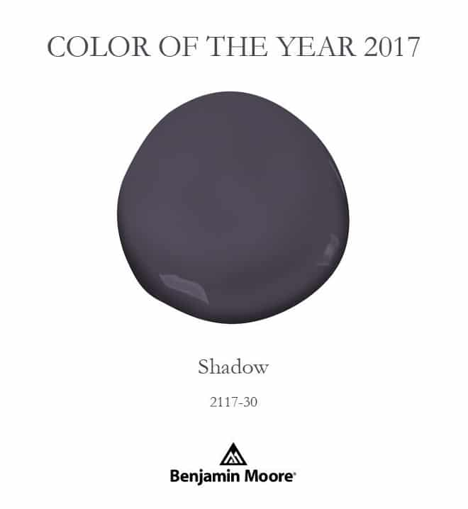 Benjamin moore shadow color of the year 2017 setting Paint color of the year