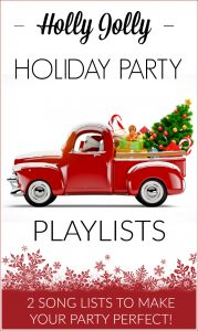 Put the Ho Ho Ho! in your upcoming Christmas parties with these Holly Jolly Holiday Party Playlists including 2 fun song lists to make your party perfect!