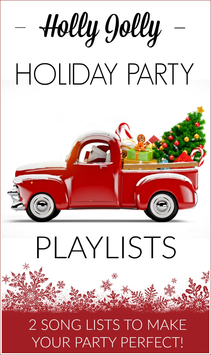 Put the HO HO HO! in your upcoming Christmas parties with these Holly Jolly Holiday Party Playlists including 2 fun FREE Spotify song lists to make your party perfect!