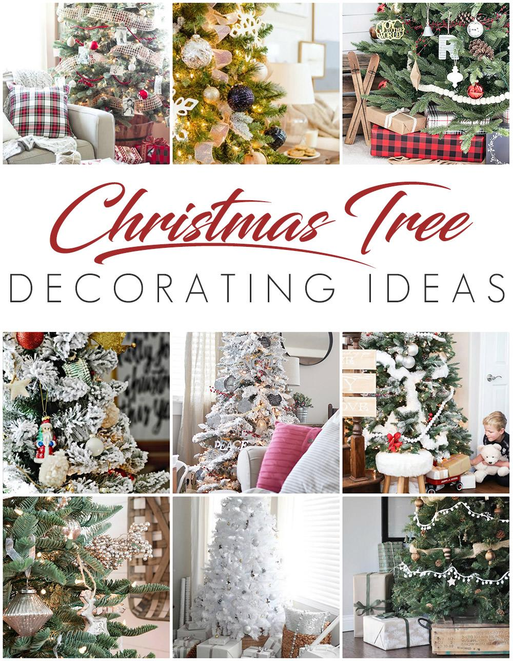 See these 9 beautiful Christmas tree decorating ideas for lots of holiday home decor inspiration! Includes lots of styles including: rustic, neutral, red and white, glam, gold, navy and more!