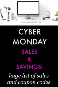Huge List of Cyber Monday Sales and Coupon Codes!