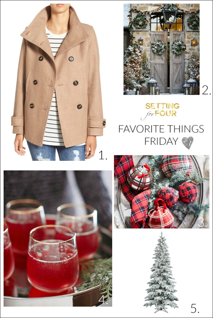 See my Favorite Things Friday for the home and fashion! My picks this week will help you finish your holiday gift shopping - see the sales! - and are all about keeping you warm and stylish this winter, entertaining in style and festive home decor for Christmas!