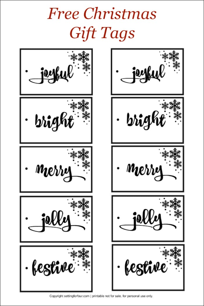 Get your FREE Christmas Gift Tags! Save money on your holiday gift wrapping!