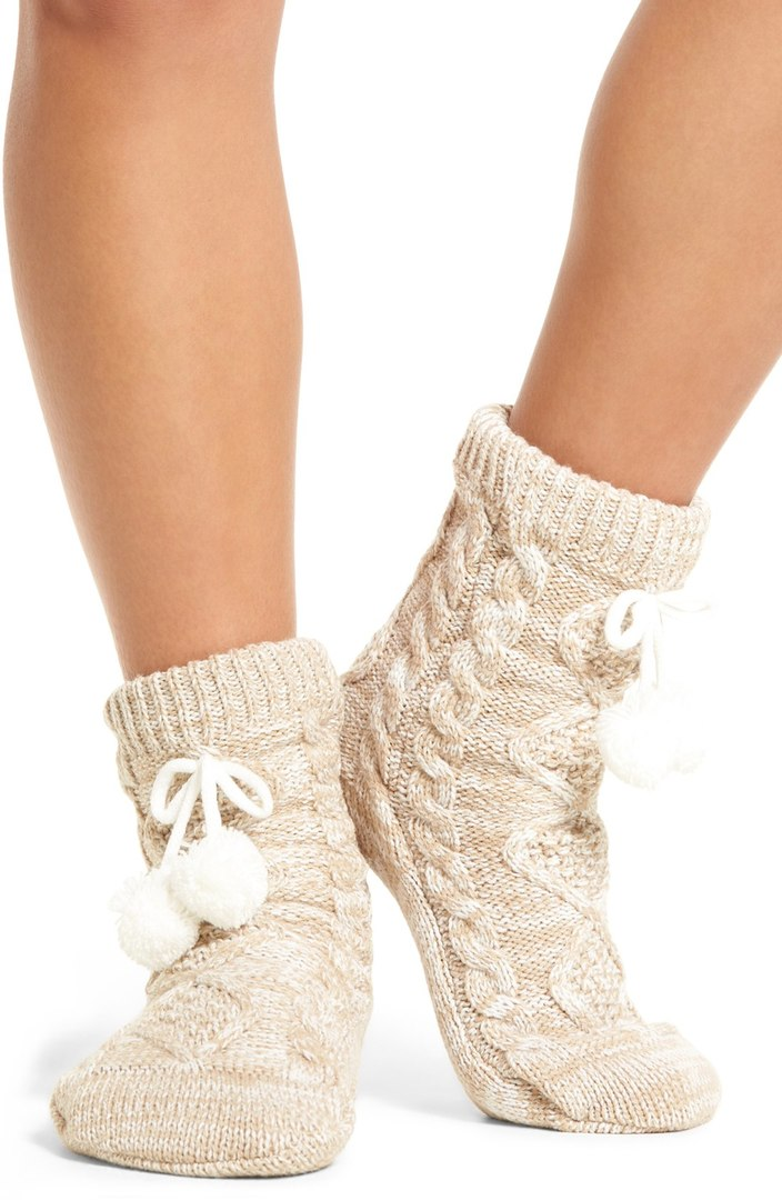 Cozy Lounge Socks: I love wearing cozy socks like this with leggings and a fleecy tunic or chunky sweater around the house in the fall and winter when the chill arrives.