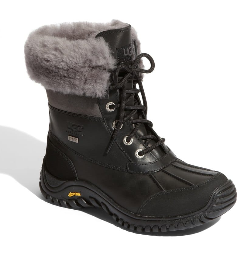 Ugg waterproof boots -These are so adorable on and look great with leggings and jeans. They are waterproof and cold weather rated! The cuff rolls down to show a beautiful gray shearling look or you can roll it up higher!