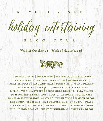 See 30 creative decor bloggers are sharing a gorgeous collection of Christmas Table Setting and Entertaining Ideas as part of an festive Styled + Set Holiday Home Entertaining Blog Tour. You'll find lots of inspiration to celebrate Christmas including: table top decorations, bar cart ideas and entertaining ideas for your holiday parties and family gatherings!