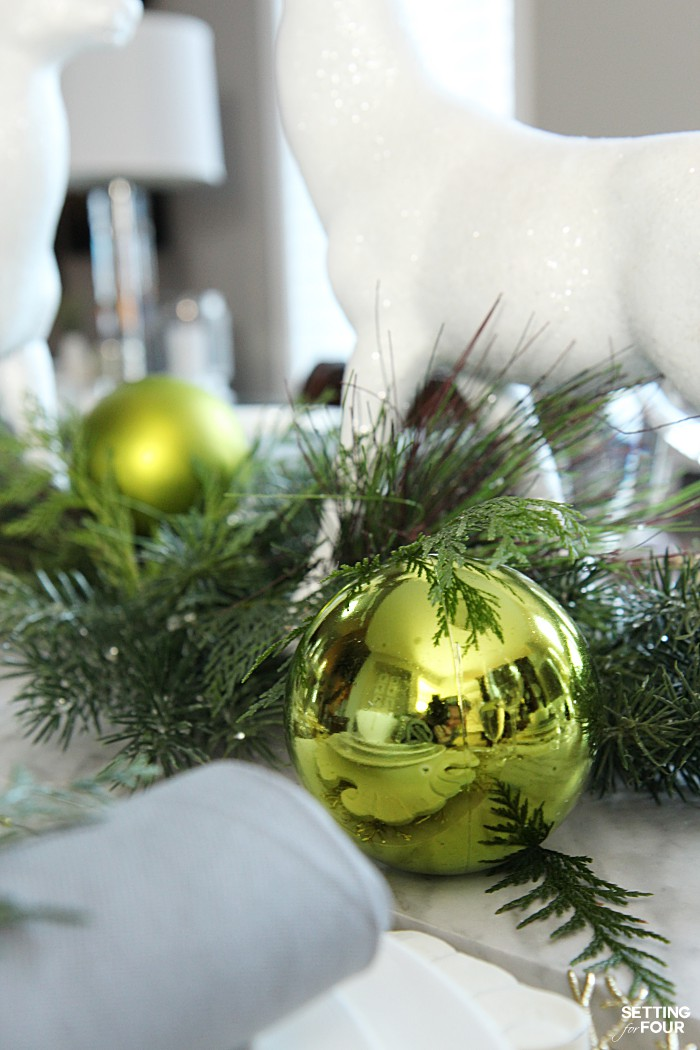 How to style a holiday chic christmas centerpiece