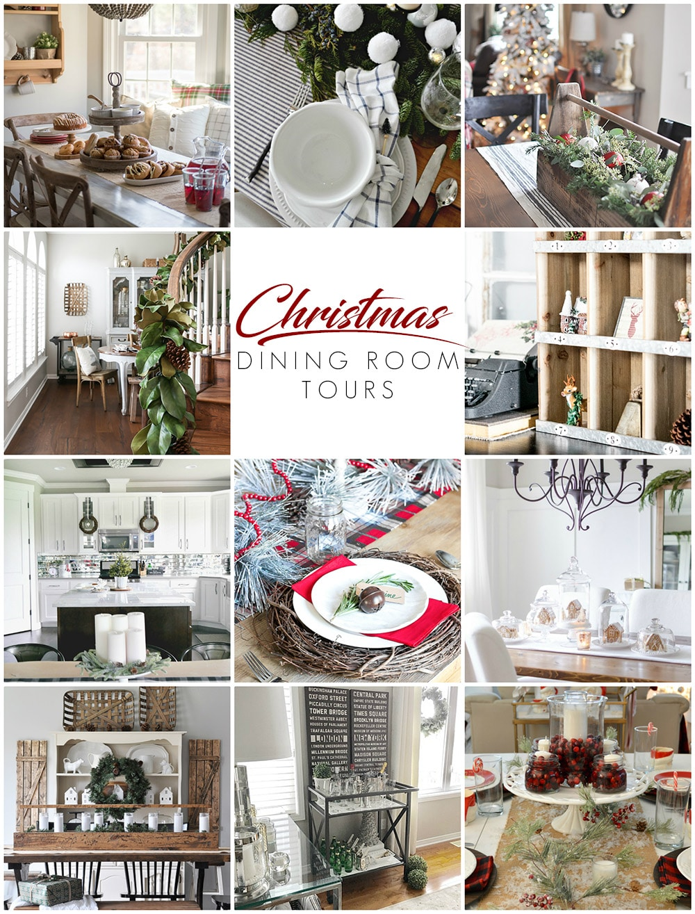 See 11 home design bloggers dining room tours decorated for Christmas! Check out all of the festive holiday interior decor ideas and tips!