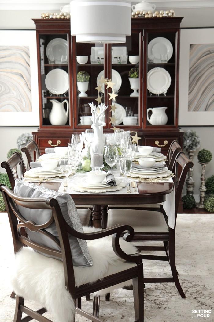 Holiday Chic Elegant Table Setting Ideas & Elegant Table Setting Ideas and Mikasa Dinnerware Giveaway - Setting ...