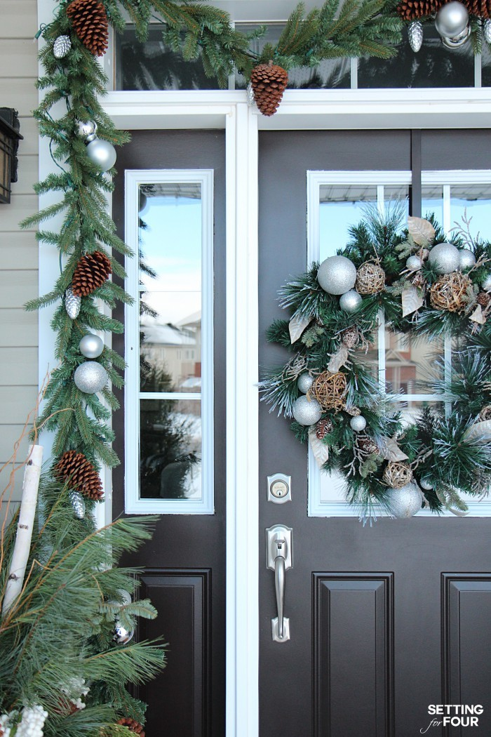 Holiday home decor ideas: See my Neutral and Elegant Christmas Home Tour and my Christmas front porch decorating tips!