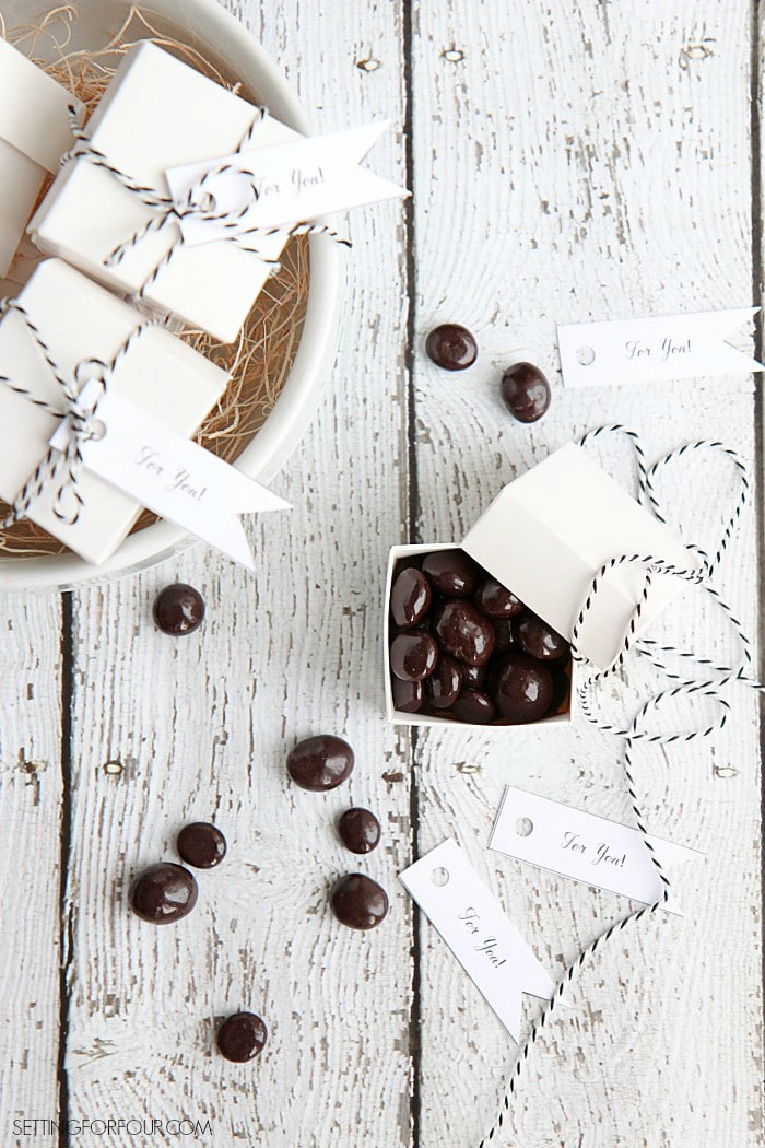 DIY Chocolatey Favor Boxes - For Gifts