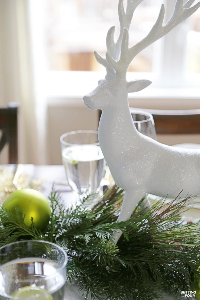 Holiday home decor idea and Design lesson! How to make an elegant Christmas Table Centerpiece in just 4 steps!
