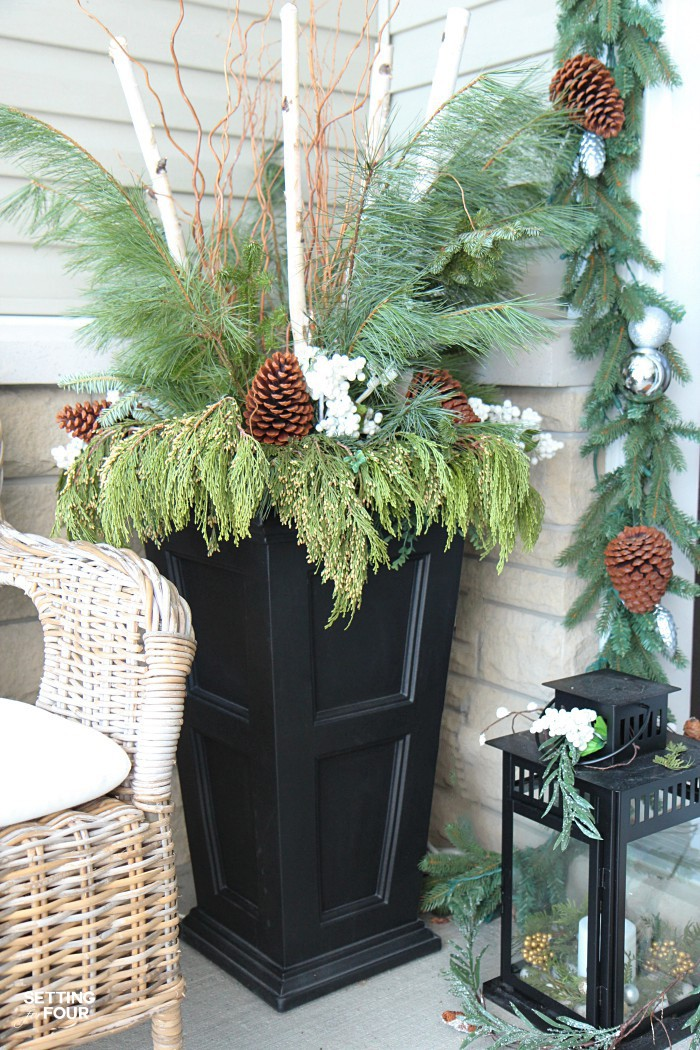 Holiday home decor ideas: See my Neutral and Elegant Christmas Home Tour and my Christmas urn decorating tips!