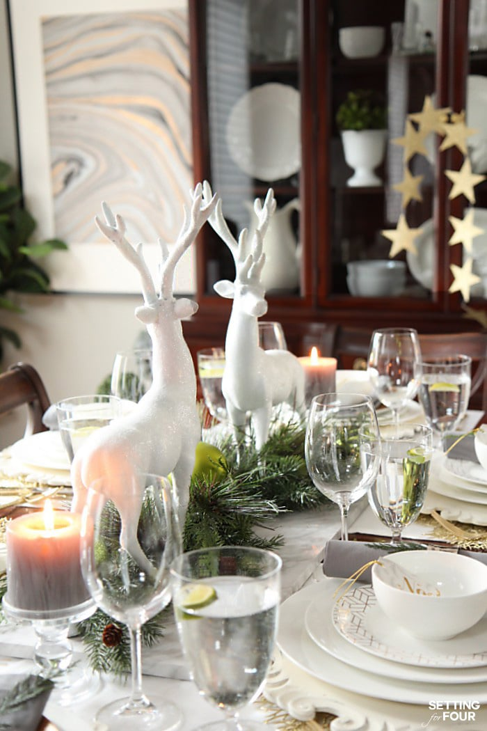 How To Style A Holiday Chic Christmas Centerpiece Setting