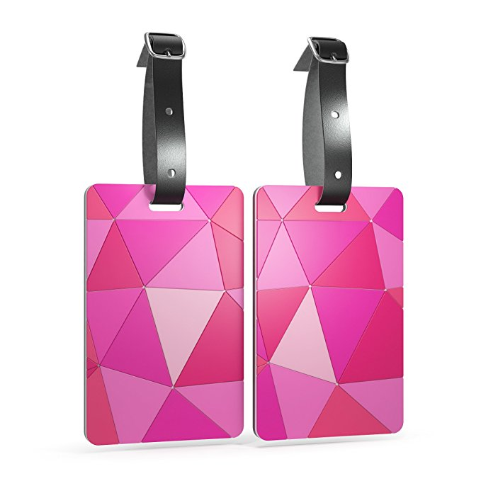 Luggage Tags - Set of 2: You'll be able to identify your luggage in a jiffy with these beautiful luggage tags in a gorgeous geometric print and a bright pop of color!
