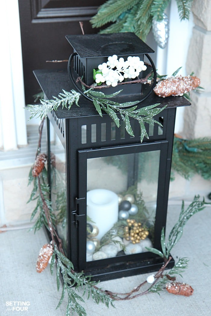 Holiday home decor ideas: See my Neutral and Elegant Christmas Home Tour and my Christmas lantern decorating tips!