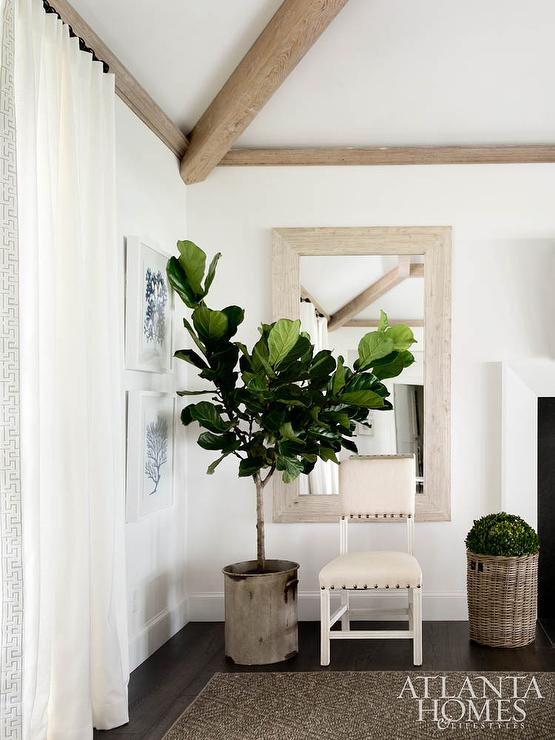 Decorate with Pantone Color of the Year 2017 GREENERY using plants - fiddle leaf fig tree.