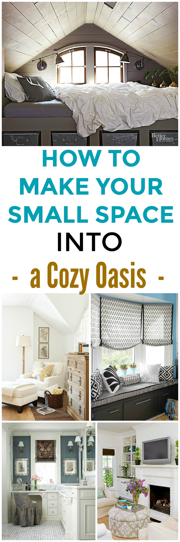 5 cozy small spaces that are warm and homey setting for four