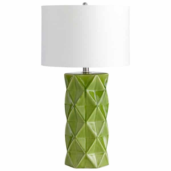 Add Pantone Color of the Year 2017 Greenery to your home with statement table lamps.