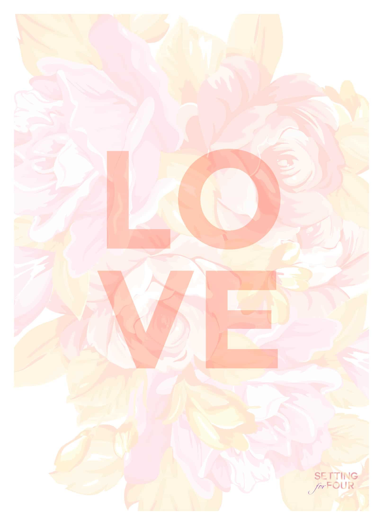 Free Floral Iphone Ipad Wallpaper And Printable Art