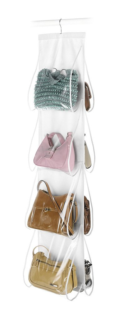 Hanging Purse organizer and 10 brilliant closet organization ideas!