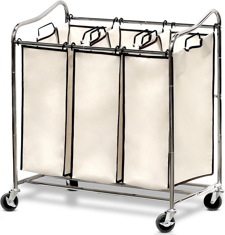 Rolling laundry hamper organizer and 10 brilliant closet organization ideas!