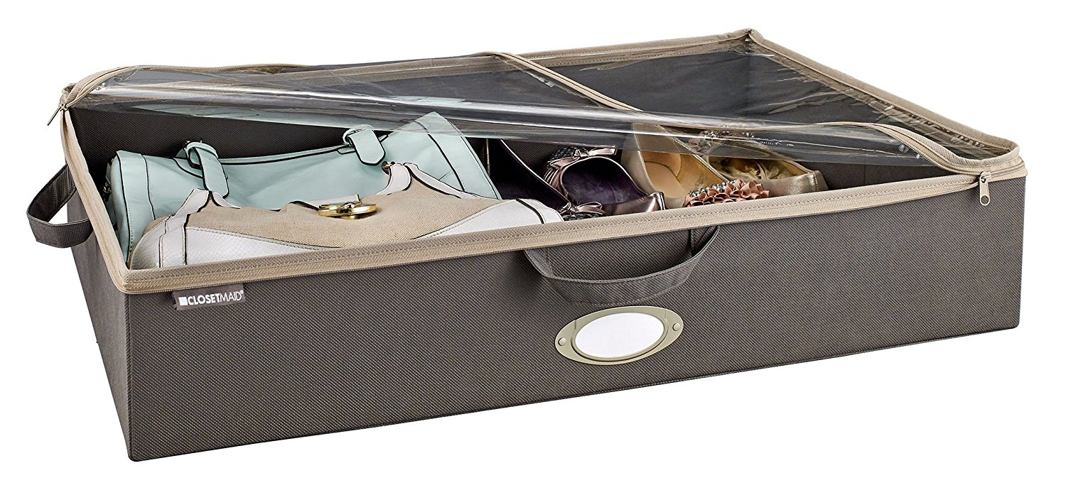 Under the bed container organizer and 10 brilliant closet organization ideas!